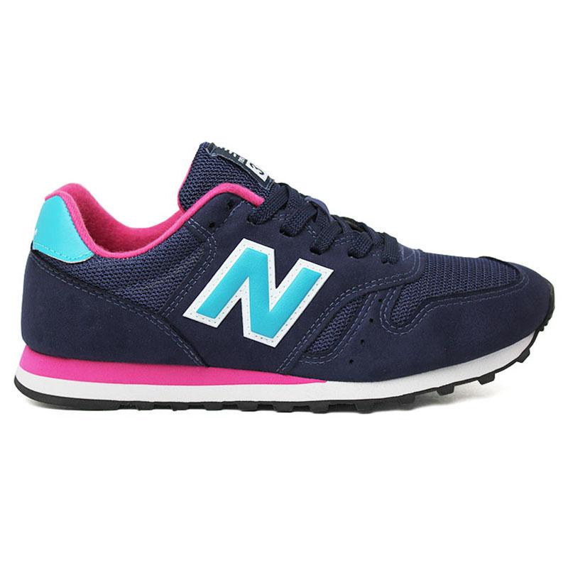 tênis new balance 373 azul e rosa