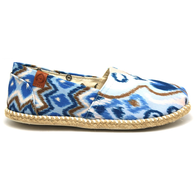 ALPARGATA PERKY CORDA 1 LOCAL BLUE IKAT