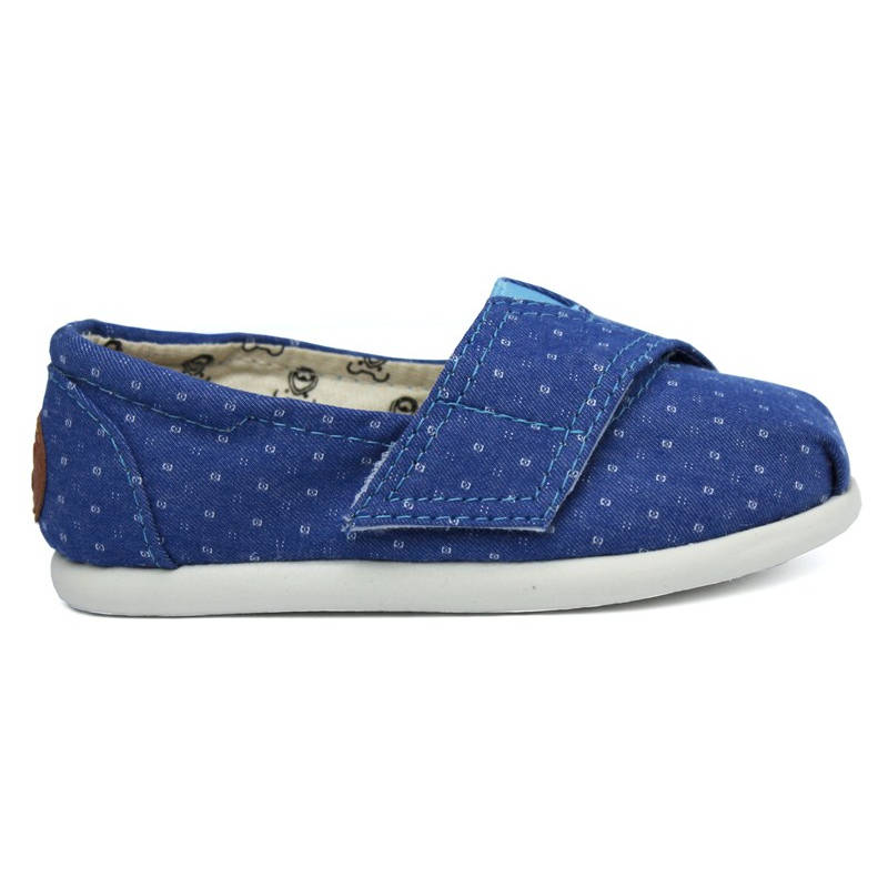 ALPARGATA PERKY BABY DARK DENIM DOTS