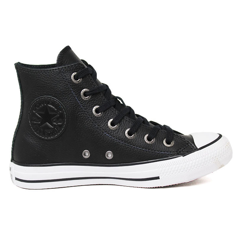 ALL STAR LEATHER HI PRETO