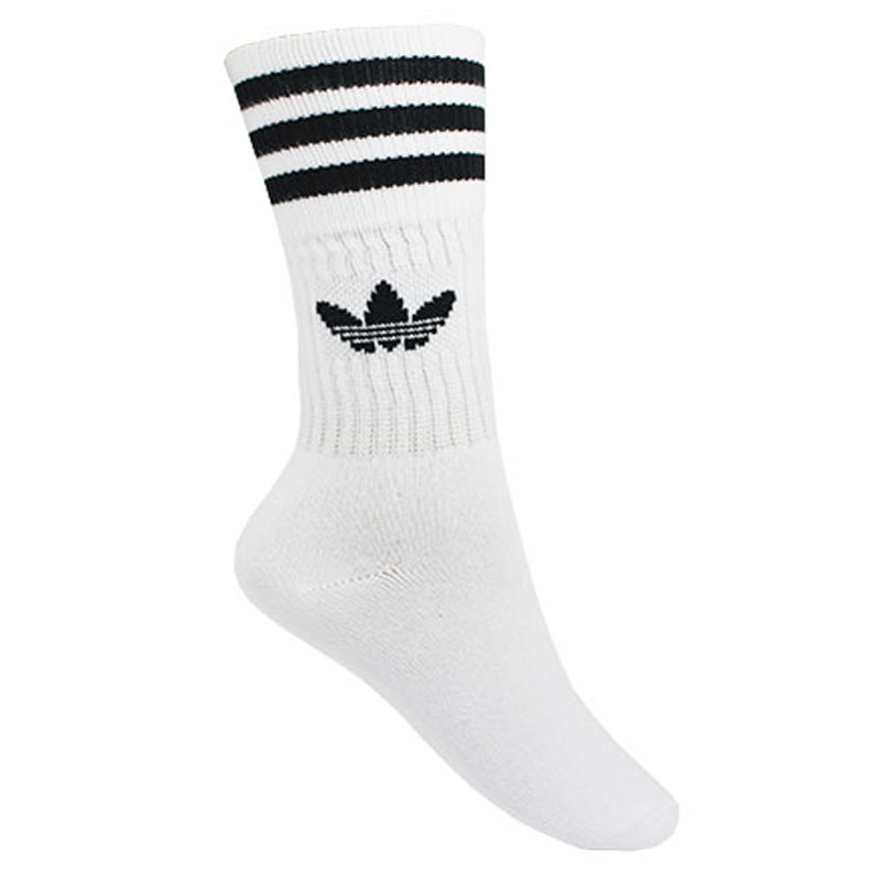 MEIA ADIDAS SOLID CREW SOCK WHITE/BLACK