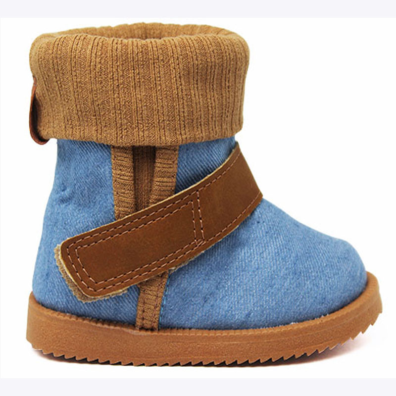PERKY MOON BOOT BABY DENIM FLANELA
