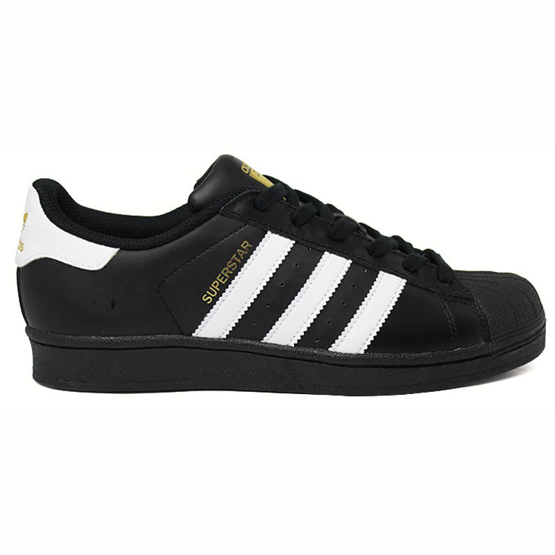 TÊNIS ADIDAS SUPERSTAR FOUNDATION J BLACK-WHITE