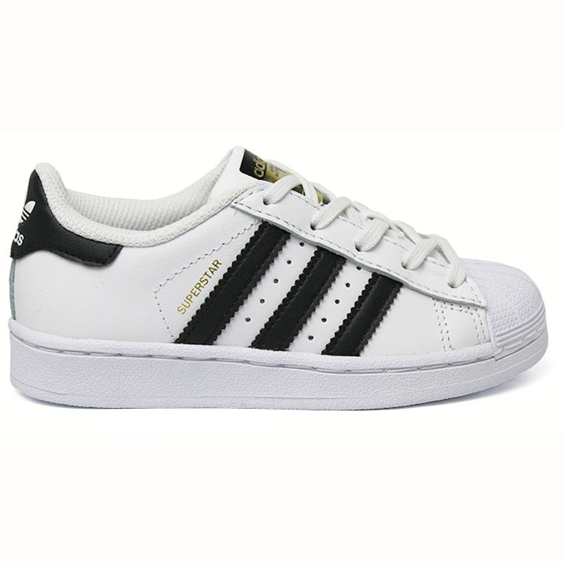 TÊNIS ADIDAS SUPERSTAR FOUNDATION KIDS WT/BLK