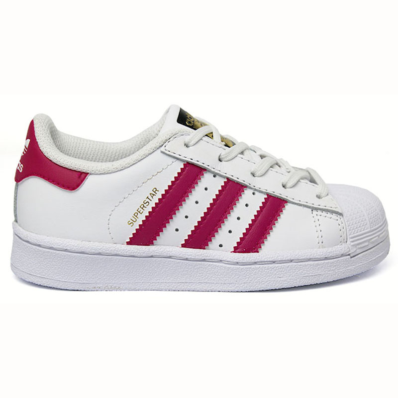 TÊNIS ADIDAS SUPERSTAR FONDATION KIDS WT/PINK