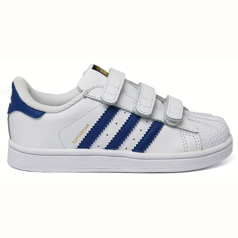 ADIDAS SUPERSTAR CF I KIDS VELCRO BCO/BLUE