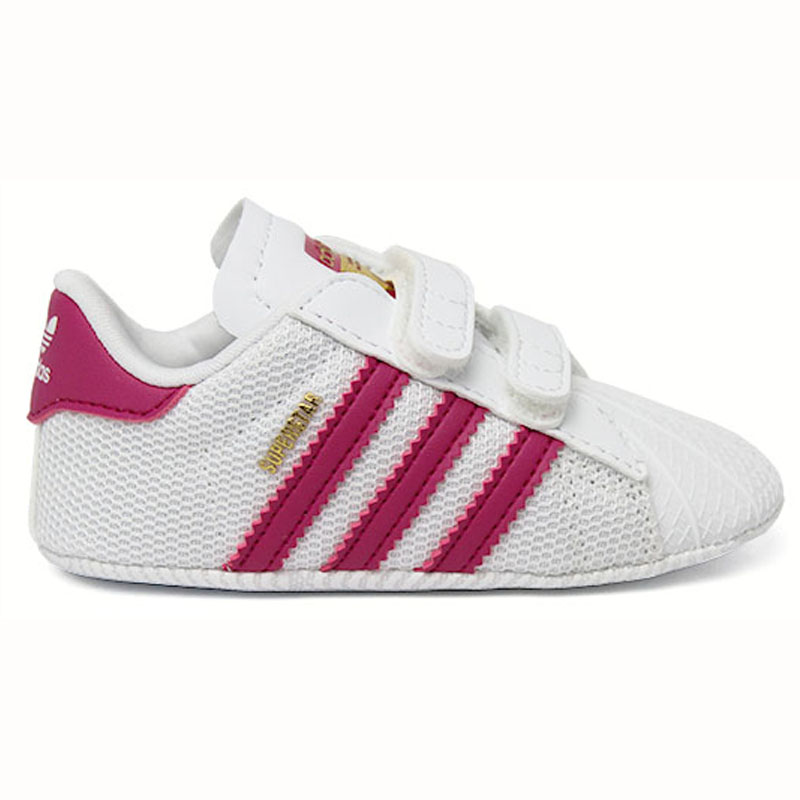 TÊNIS MY FIRST ADIDAS SUPERSTAR CRIB FTWWHT/BOPINK