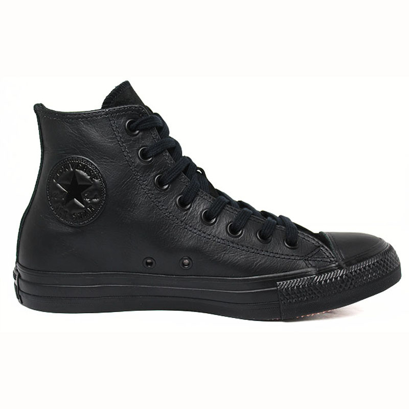ALL STAR CHUCK TAYLOR LEATHER HI PRETO