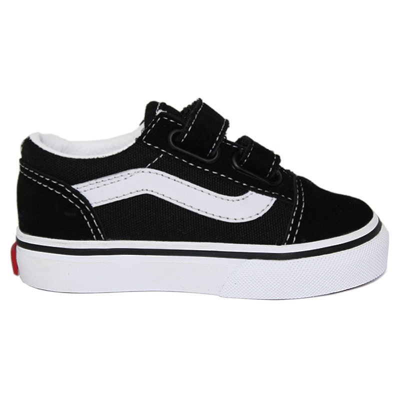 TENIS VANS BABY OLD SKOOL 2 VELCROS BLACK/WHITE