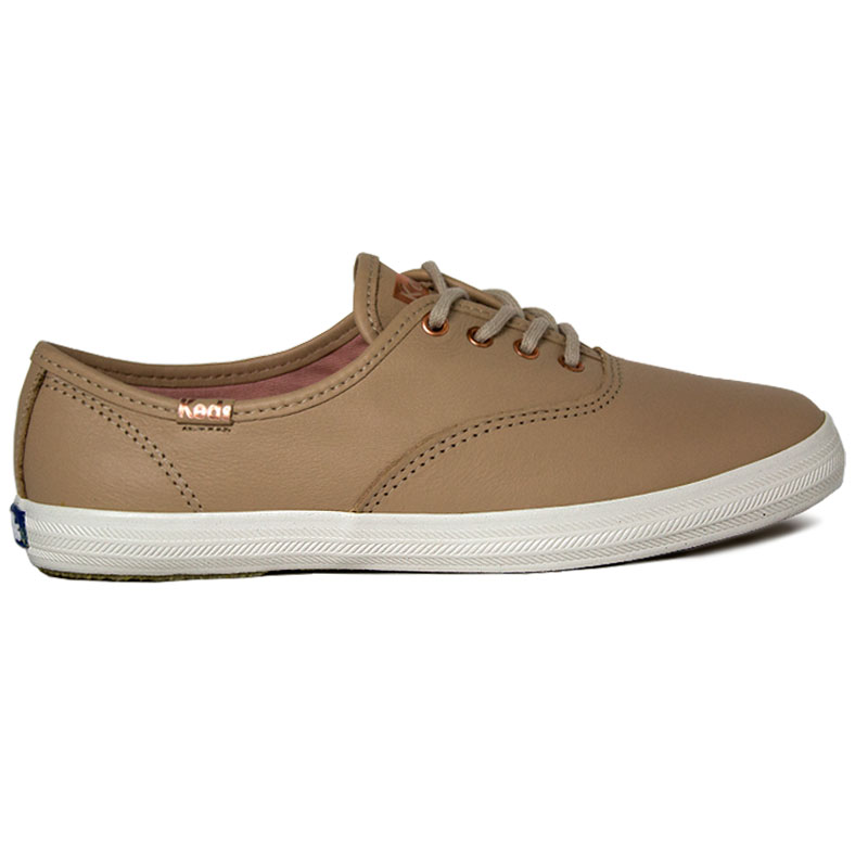 *TENIS KEDS CHAMPION LEATHER COBRE NUDE