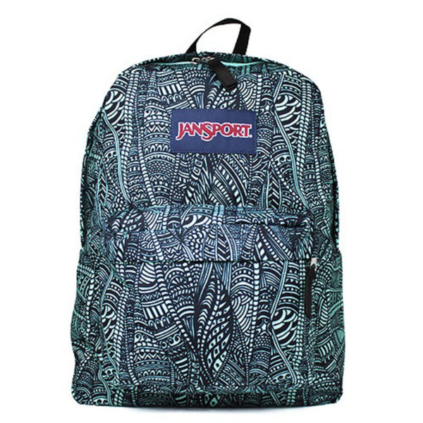 MOCHILA JANSPORT AQUA DASH SCRIBBLED INK
