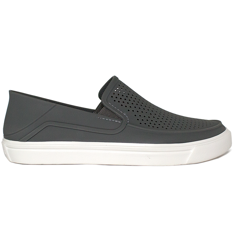 CROCS CITILANE ROKA SLIP-ON SMOKE/WHITE