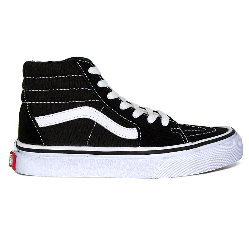 TÊNIS VANS KIDS SK8 HI BLACK/TRUE WHITE