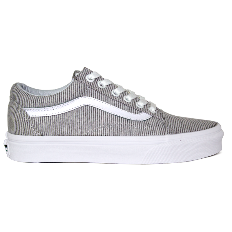 TÊNIS VANS OLD SKOOL (JERSEY) GRAY/TRUE WHITE