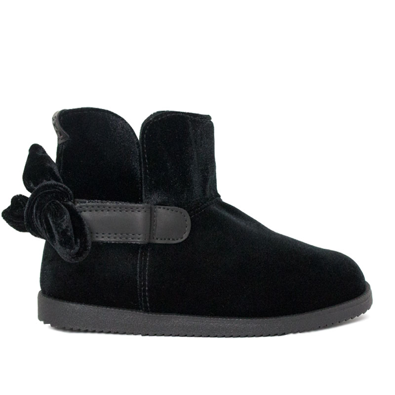 PERKY BOW BOOT KIDS BLACK