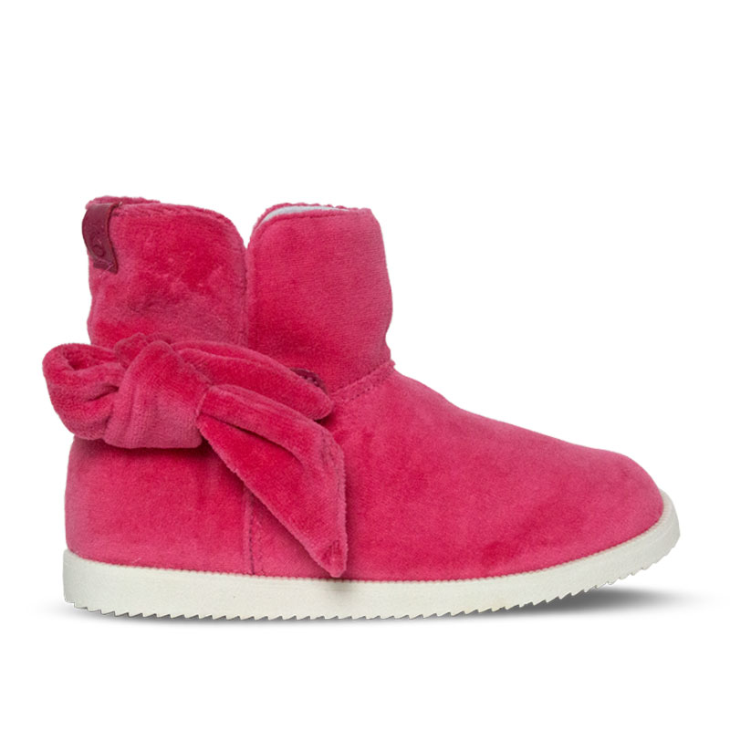 PERKY BOW BOOT KIDS PINK