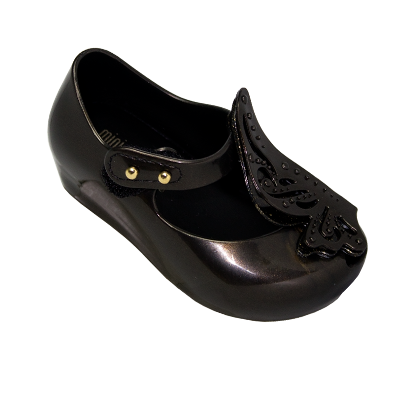 MINI MELISSA ULTRAGIRL FLY II PRETO METALIZADO