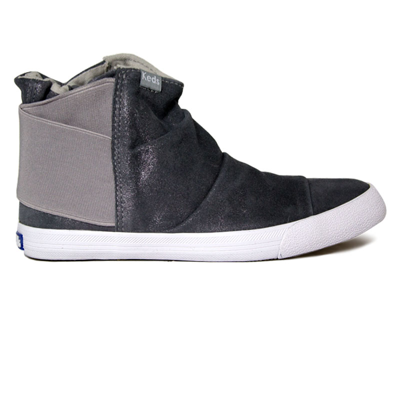 TOPKICK KEDS BOOT GLITTER SUEDE CINZA