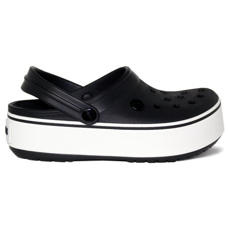 CROCBAND PLATFORM BLACK/WHITE