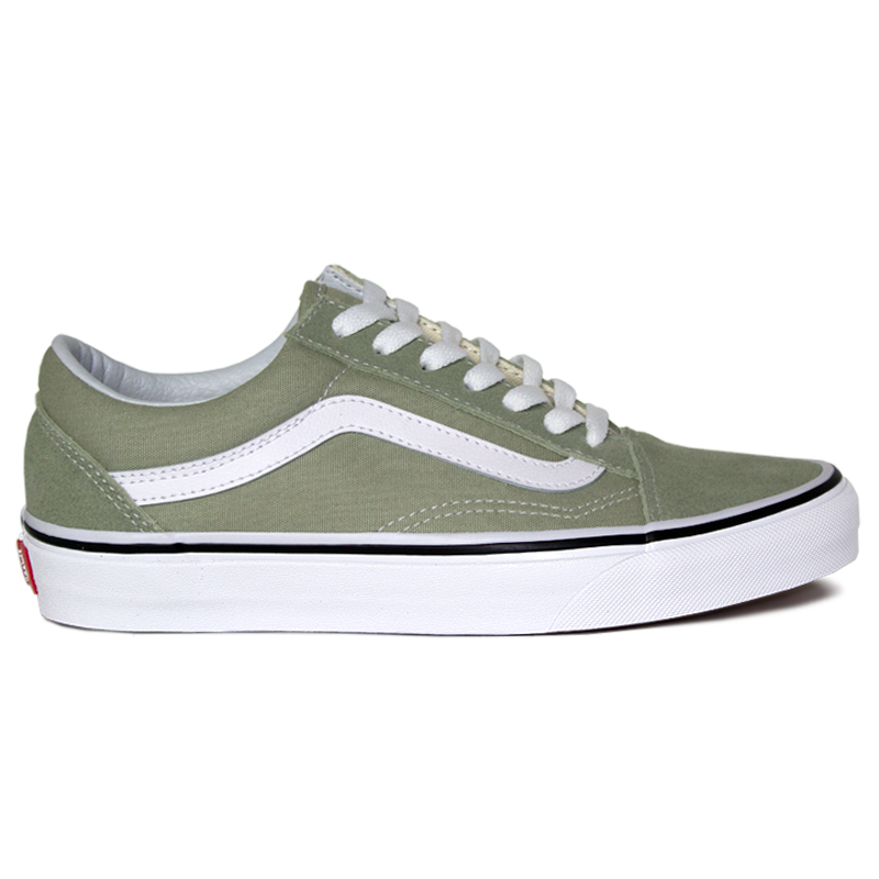 TENIS VANS OLD SKOOL DESERT SAGE/TRUE WHITE