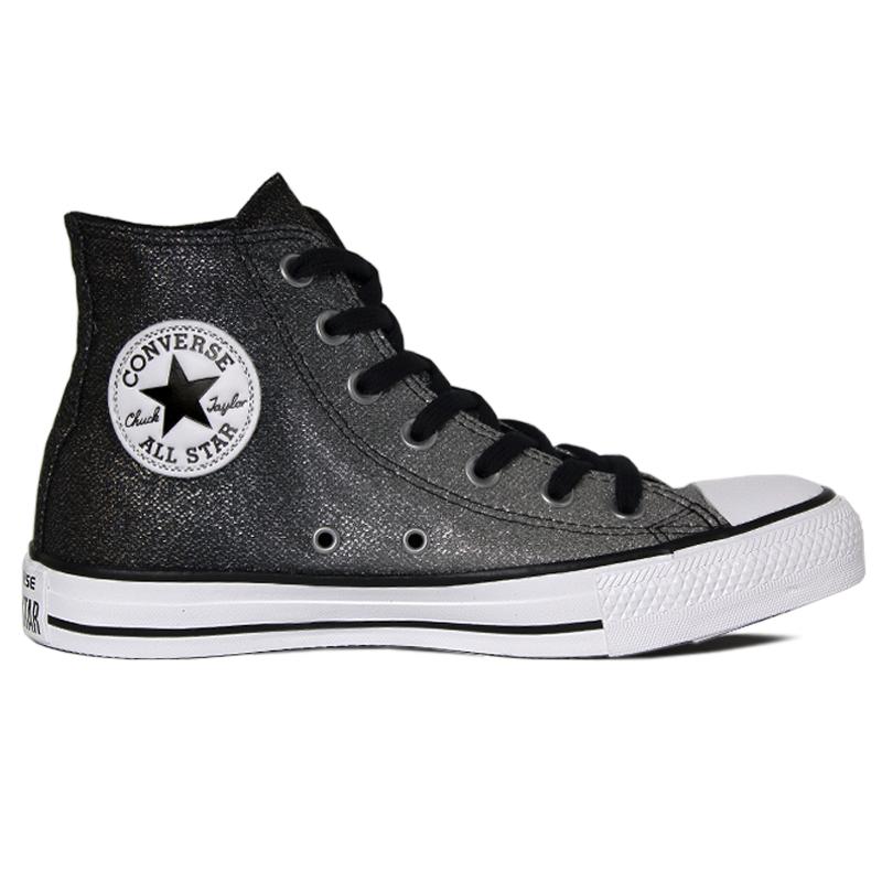f6b8a68c54 ALL STAR CHUCK TAYLOR HI PRATA CINZA METALIZADO - Converse é na ...