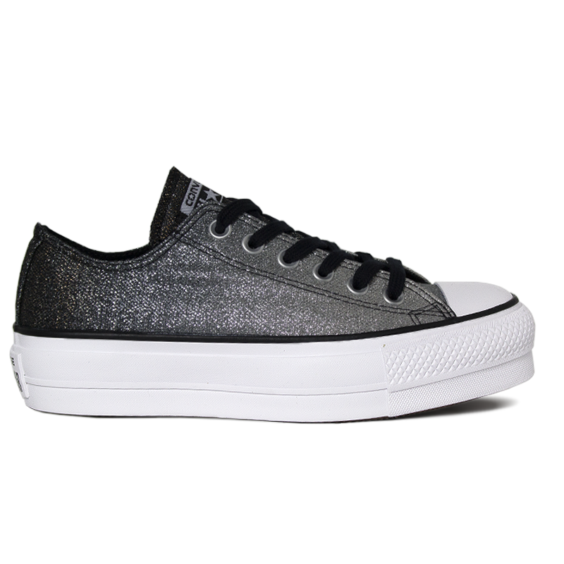 ALL STAR PLATFORM PRATA/CINZA METALIZADO