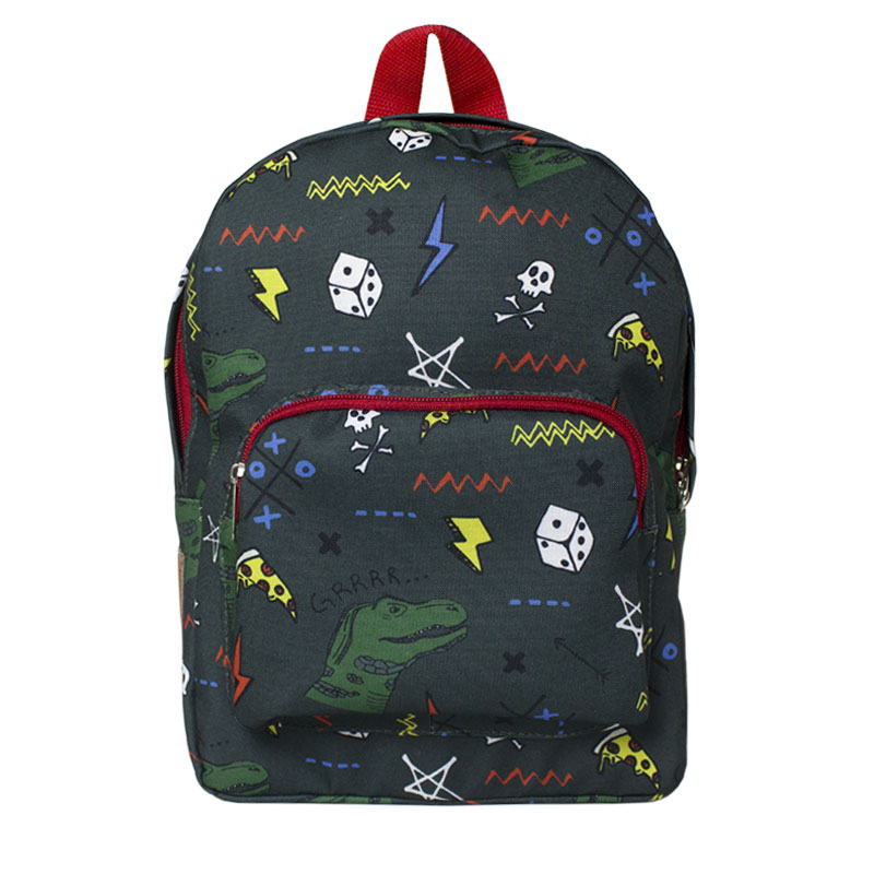 MOCHILA PERKY KIDS PATCHES DINO