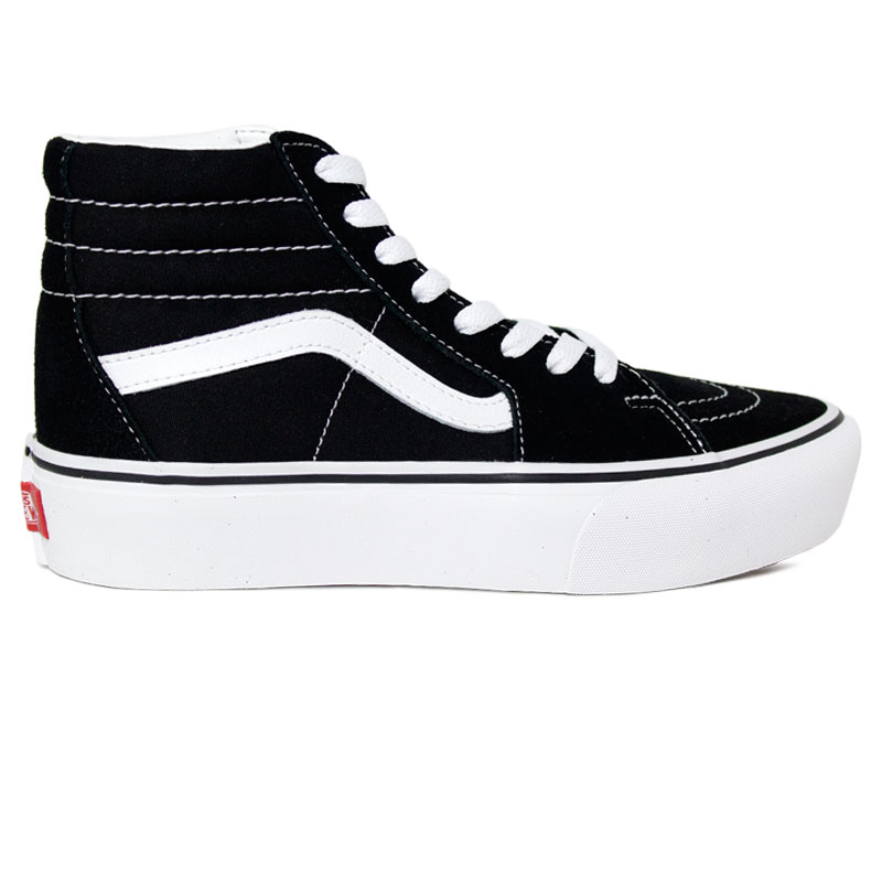 TENIS VANS SK8 HI PLATAFORM 2.0 BLACK/TRUE WHITE