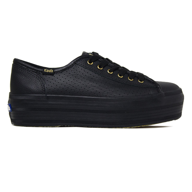 *KEDS PLATAFORM KICK PERF LEATHER PRETO
