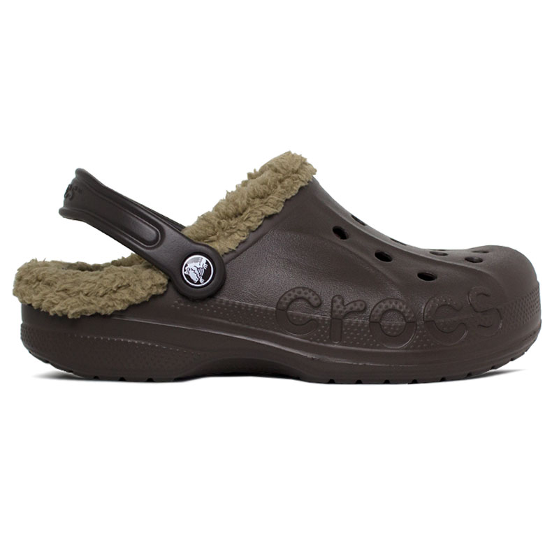 CROCS BAYA LINED EXPRESSO KHAKI RELAXED FIT