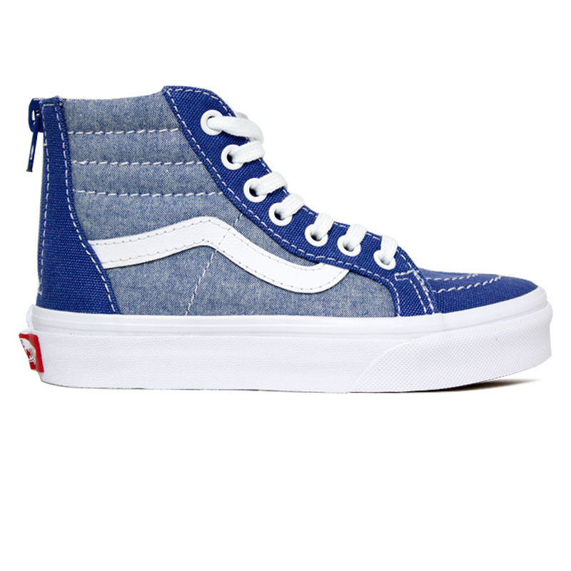TÊNIS VANS KIDS SK8 HI ZIP KIDS CHAMBRAY
