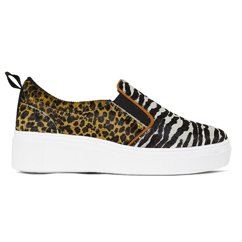 SLIP ON CONVEXO MIX ANIMAL PRINT