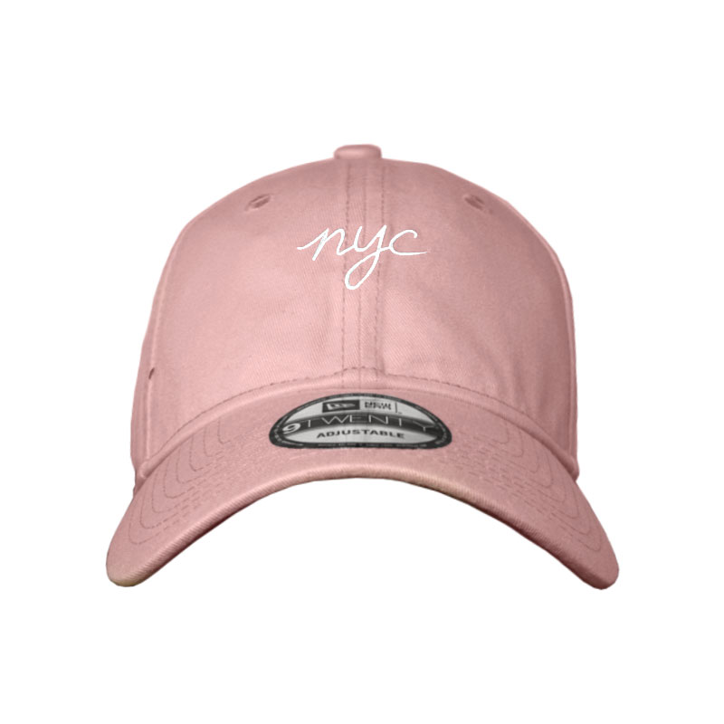 BONÉ NEW ERA CITIES MINI LOGO NYC (FIVELA) ROSA