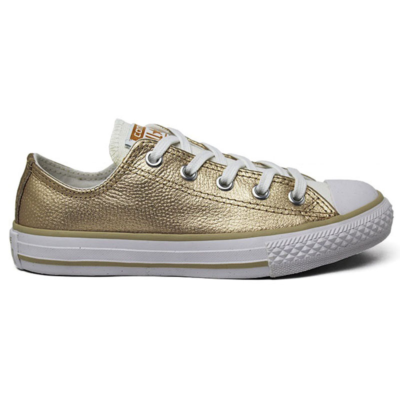 ALL STAR INFANTIL METALLIC LEATHER OX OURO