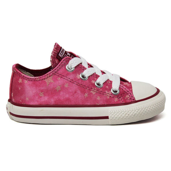 ALL STAR BABY CHUCK TAYLOR OX ROSA/RUIBARBO