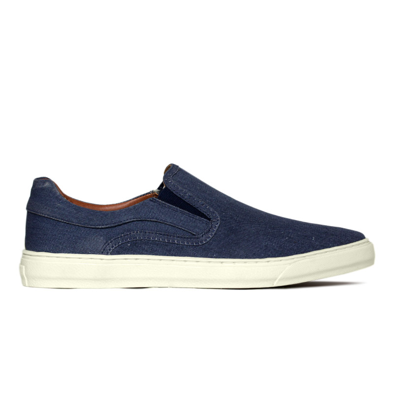 SLIP ON CONVEXO LONA LIGHT NAVY