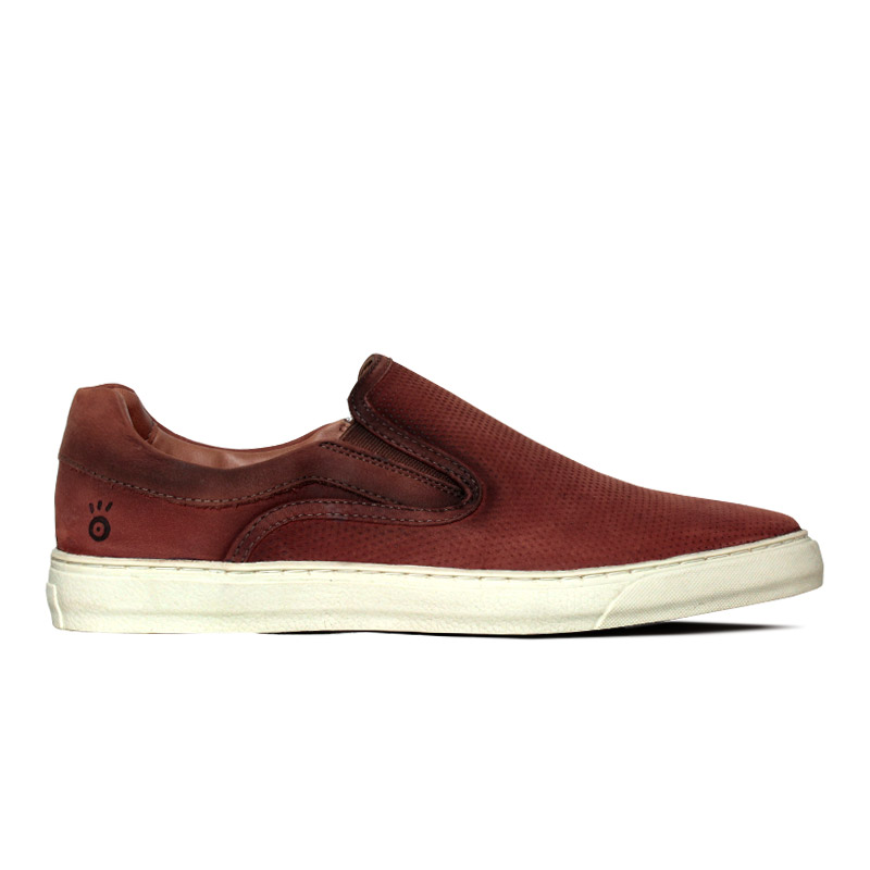 SLIP ON CONVEXO MULTIPONTOS TERRACOTA