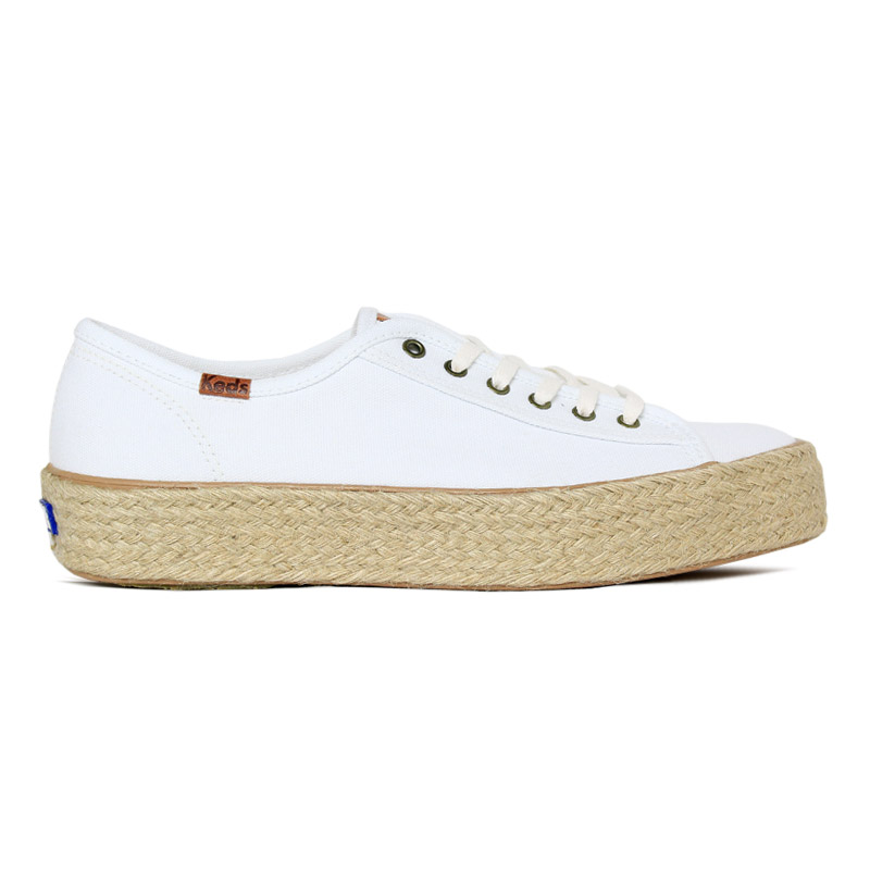 *KEDS TRIPLE KICK CANVAS JUTE BRANCO