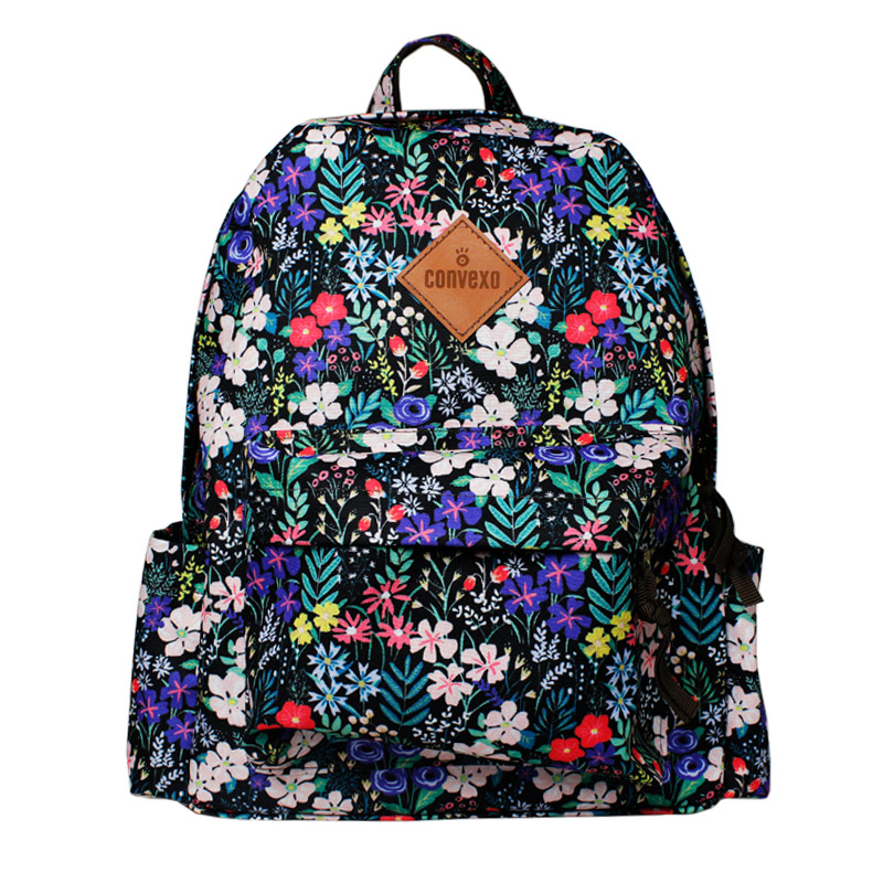MOCHILA CONVEXO ESTAMPADA BOTANIC BLACK/COLOR