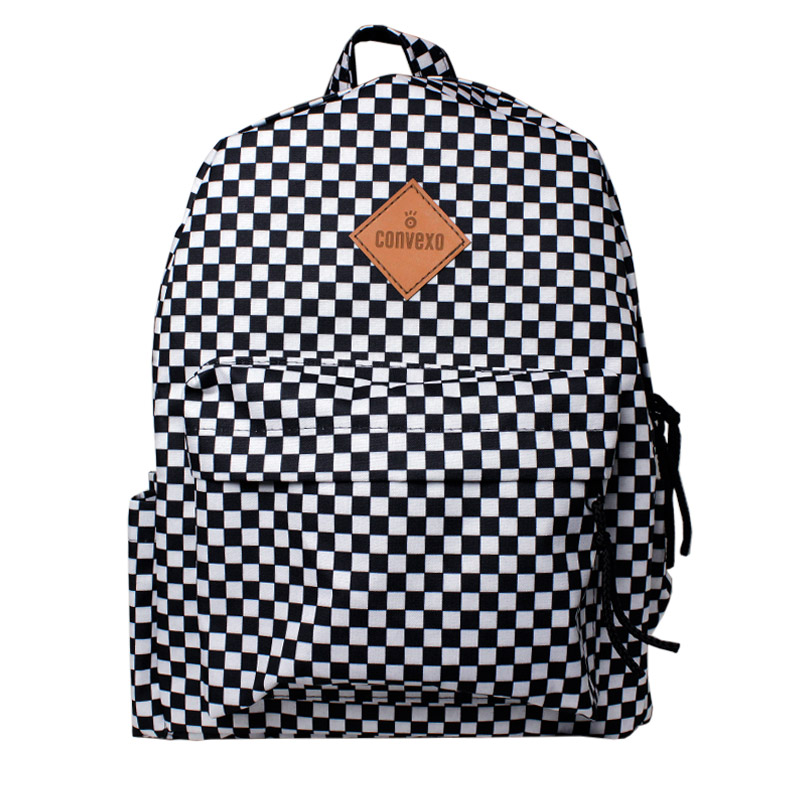 MOCHILA CONVEXO ESTAMPADA BLACK/WHITE CHECKER