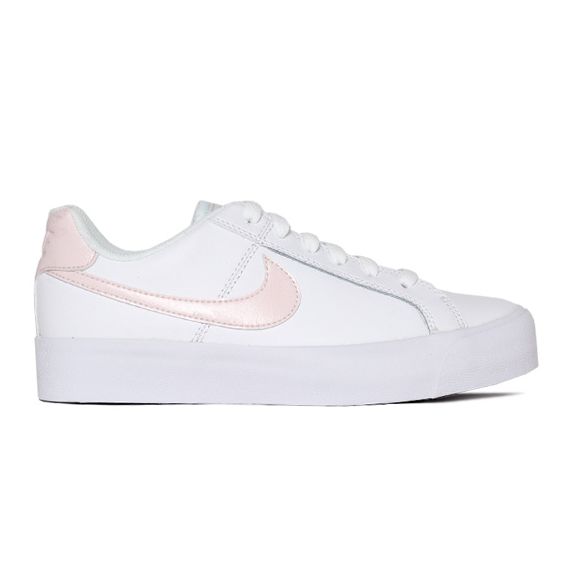 NIKE COURT ROYALE WHITE LIGHTSOFT PINK/ROSE