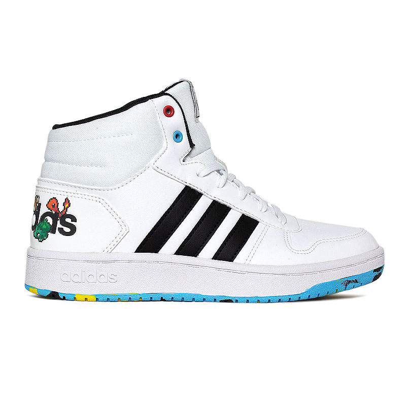 TENIS ADIDAS HOOPS MID WHITE COLOR