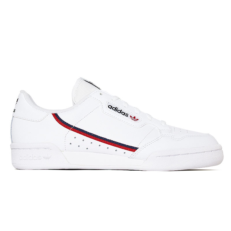 TENIS ADIDAS CONTINENTAL J WHITE.SCARLET.NAVY