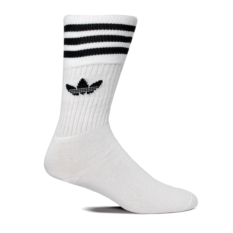 MEIA ADIDAS SOLID CREW SOCK WHITE/BLACK 35 A 38