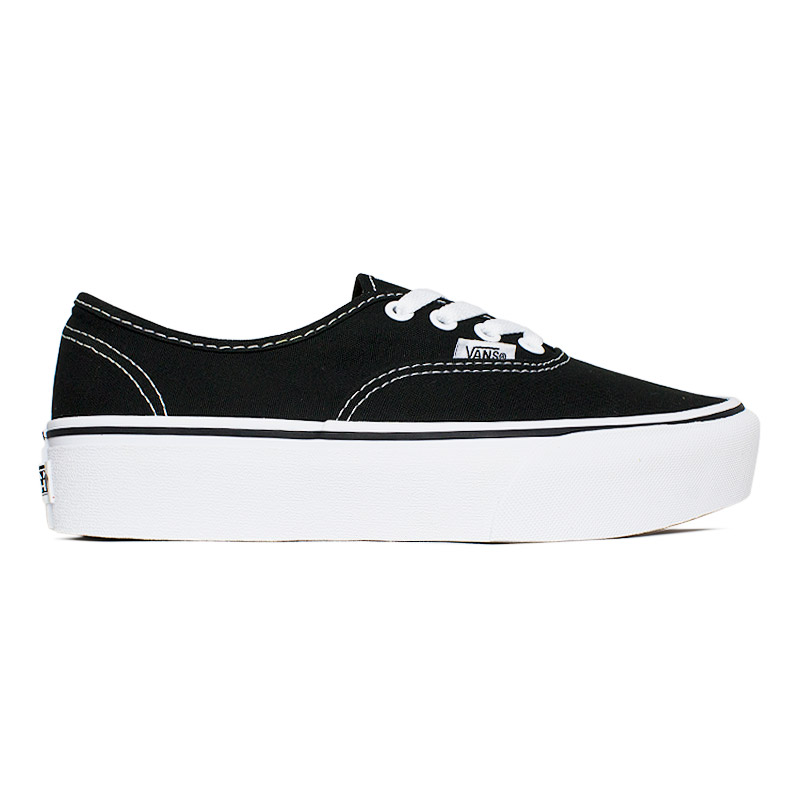VANS AUTHENTIC PLATAFORMA BLACK/WHITE