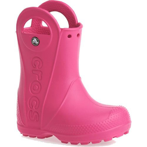 12803 CROCS RAIN BOOT KIDS FUCSIA