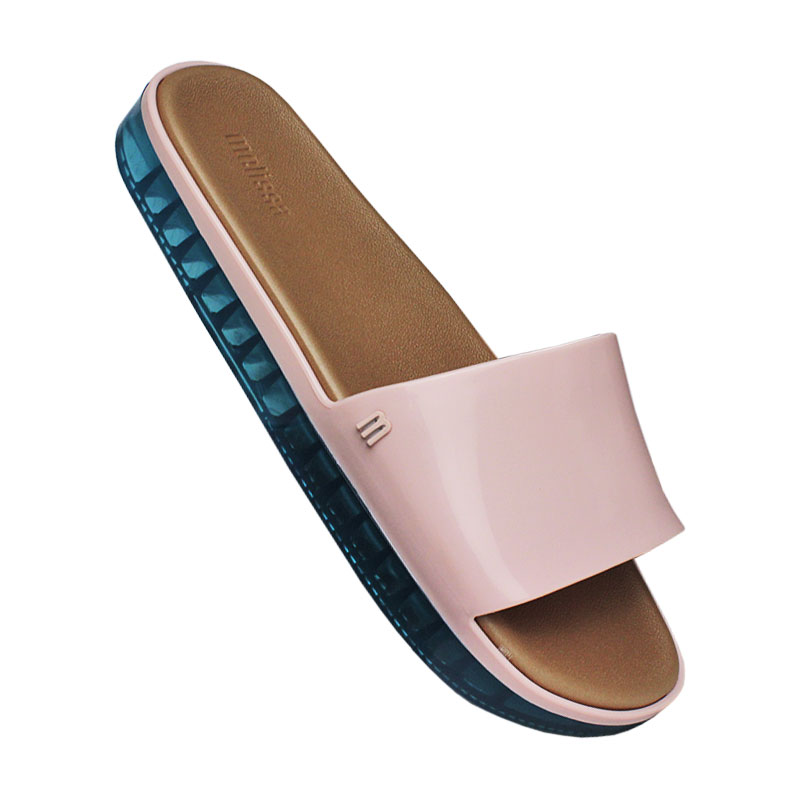 MELISSA BEACH SLIDE NEXT GEN ROSA/AZUL