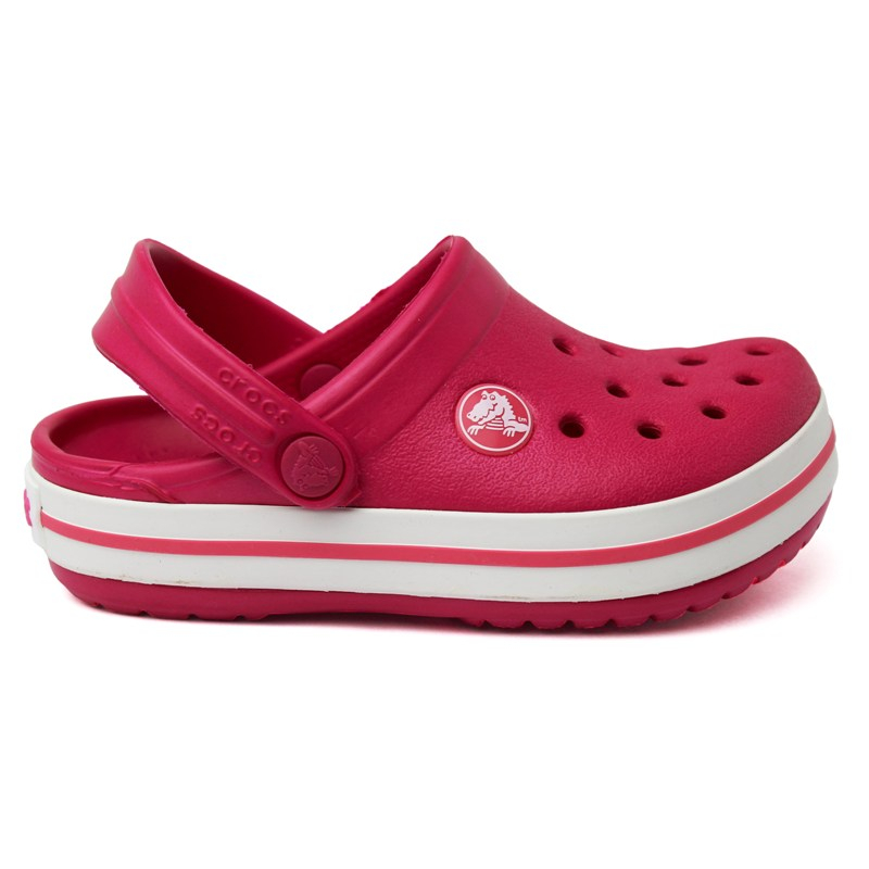 CROCBAND KIDS RASPBERRY/WHITE