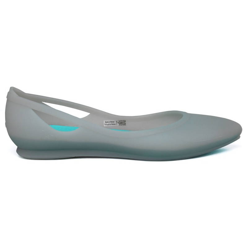 CROCS RIO FLAT PLATINUM/POOL