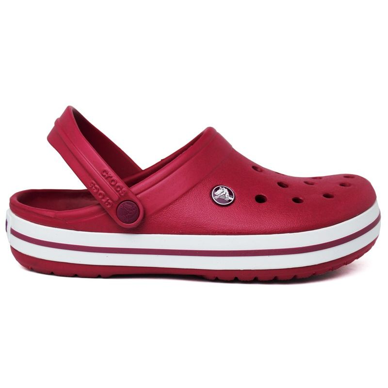 CROCS CROCBAND II  POMEGRANATE/WHITE